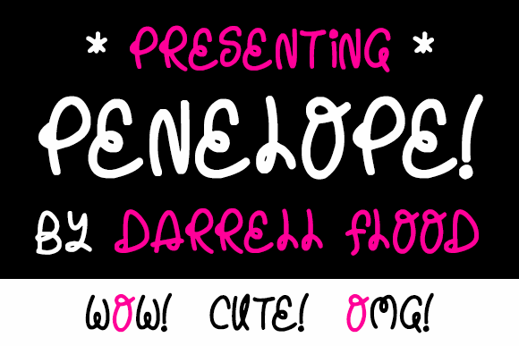 Penelope font by Darrell Flood