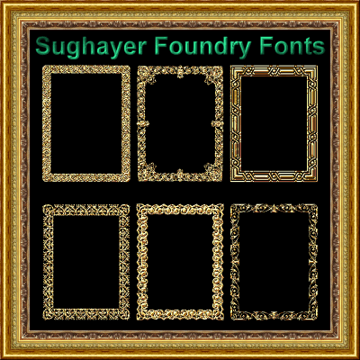 Vintage Frames_21 font by Sughayer Foundry