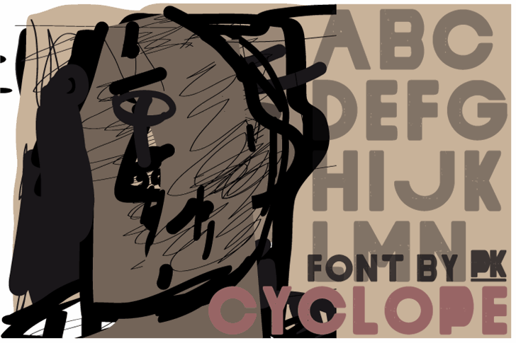 Cyclope font by paintblack éditions