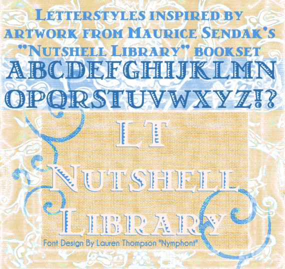 LT Nutshell Library font by Nymphont