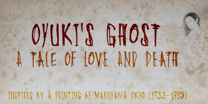 DK Oyukis Ghost font by David Kerkhoff