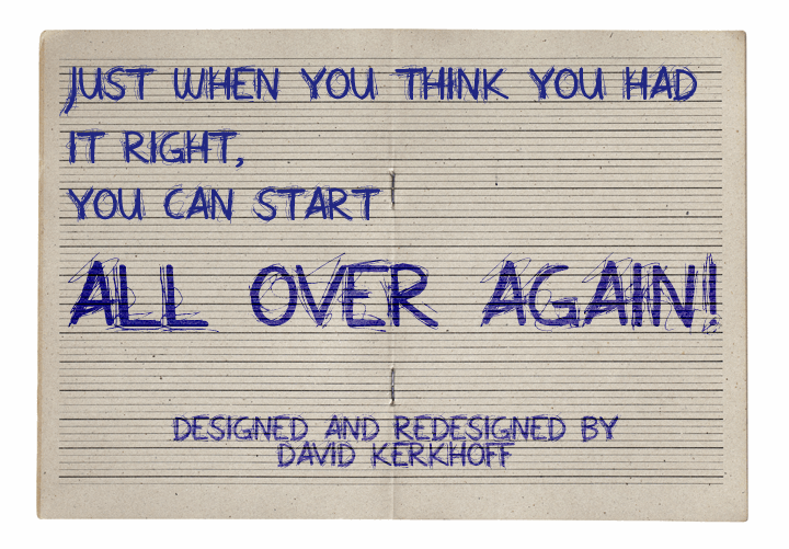 All Over Again All Caps font by David Kerkhoff