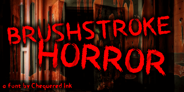 Brushstroke Horror font by Chequered Ink