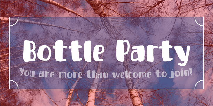 Bottle Party DEMO font by pizzadude.dk