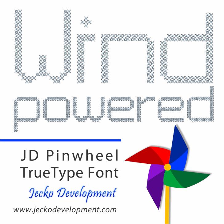 JD Pinwheel font by Jecko Development