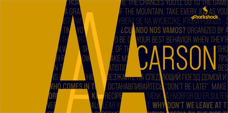 Carson font by sharkshock