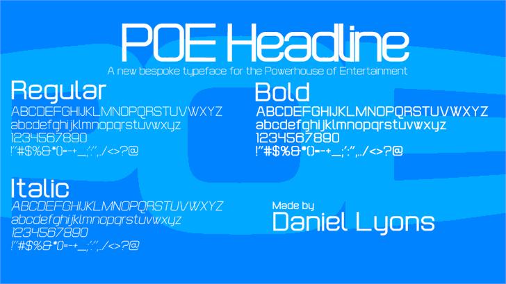 POE Headline font by 538Fonts
