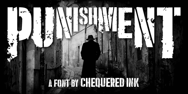Punishment font by Chequered Ink