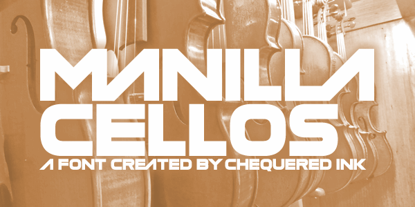 Manilla Cellos font by Chequered Ink