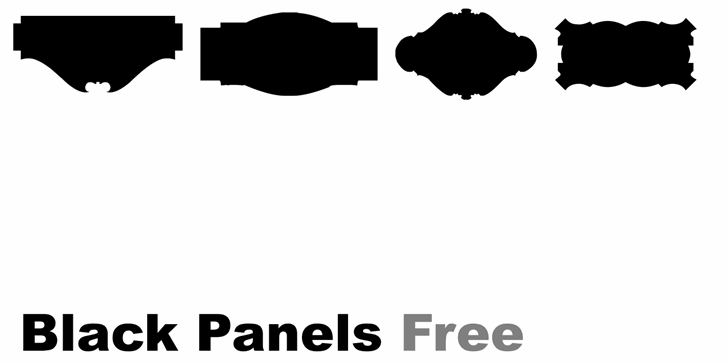 Black Panels Free font by Intellecta Design