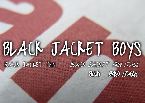 black jacket boys font by Chris Vile