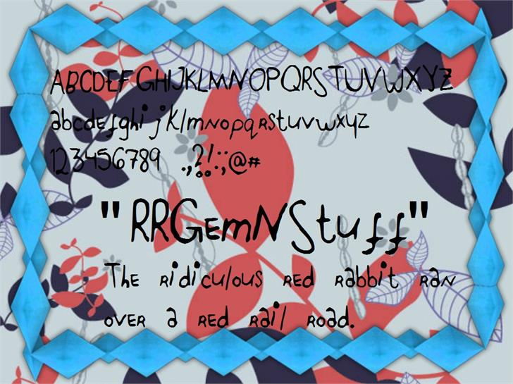 RRGemNStuff font by RidiculousRed Rampage