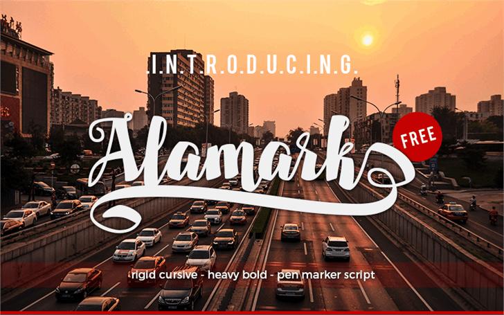 Alamark Lite Free font by Walkeren