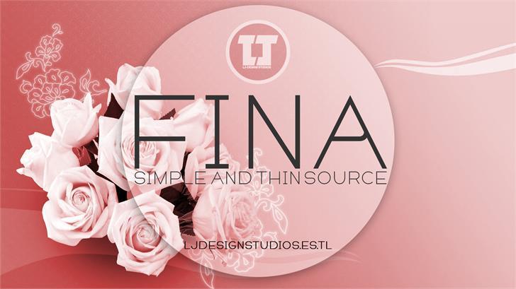 FINA font by LJ Design Studios