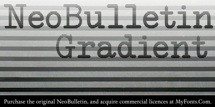 NeoBulletin Gradient font by Intellecta Design