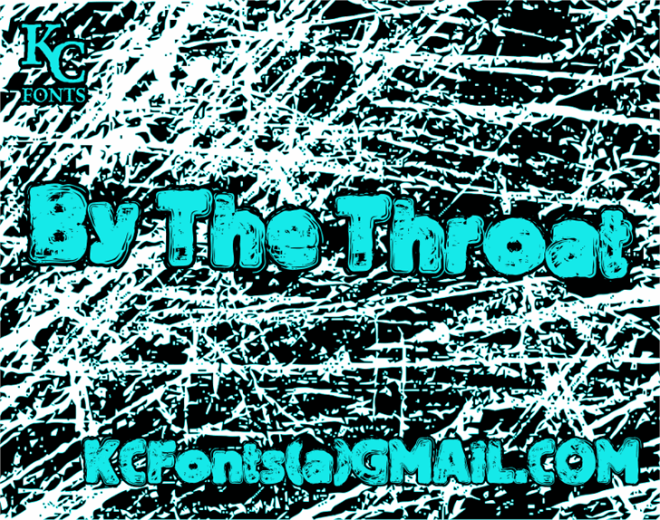 By The Throat font by KC Fonts
