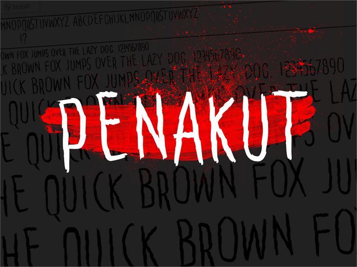 Penakut font by Gunarta