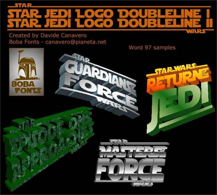 star jedi logo font by boba fonts