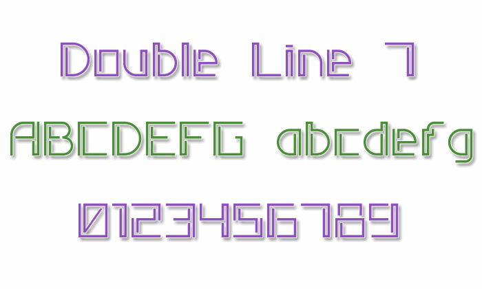 Double Line 7 font by Style-7