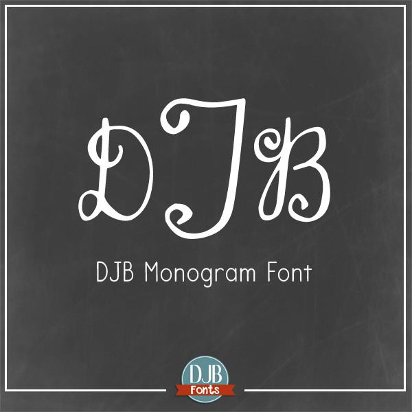 DJB Monogram font by Darcy Baldwin Fonts