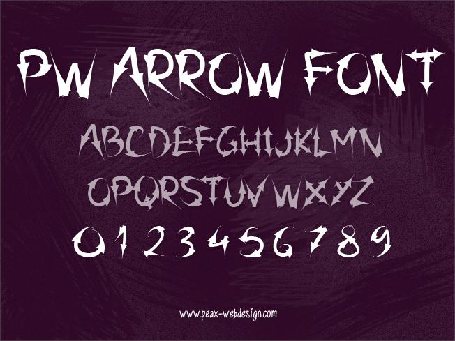 PW Arrow font by Peax Webdesign