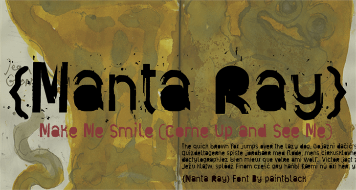 Manta Ray font by paintblack éditions