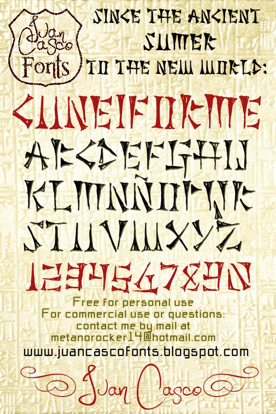 Cuneiforme font by Juan Casco