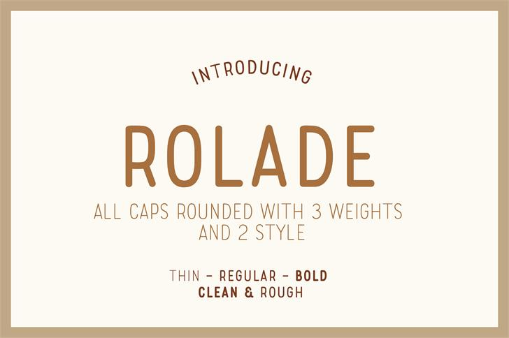 Rolade Free font by Alternatype