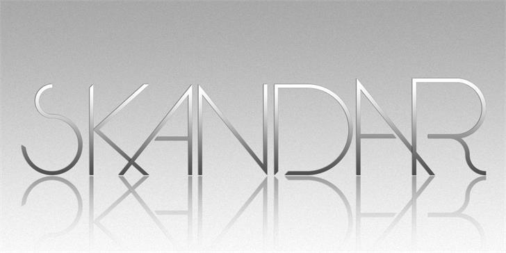 Skandar font by Paulo R
