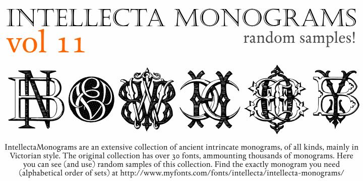 Intellecta Monograms Random Eleven font by Intellecta Design