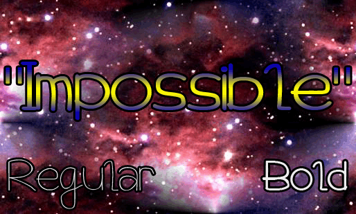Impossible font by Magic Fonts