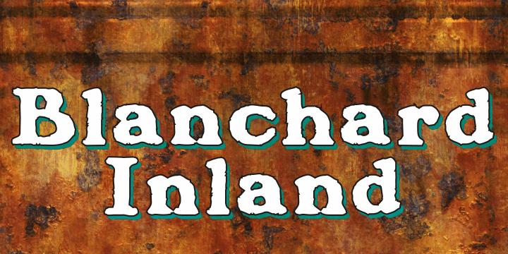 Blanchard Inland font by Intellecta Design
