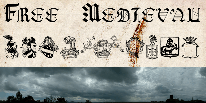 Free Medieval font by Intellecta Design
