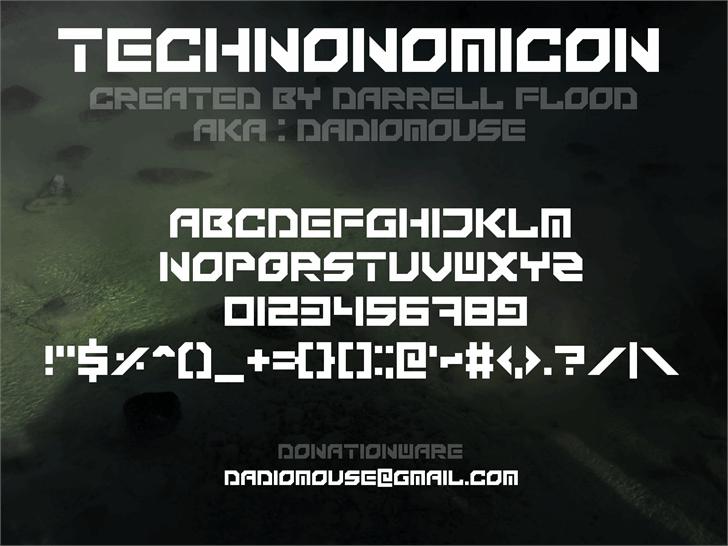 Technonomicon font by Darrell Flood