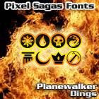 Planewalker Dings font by Pixel Sagas