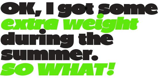 BP Diet font by backpacker