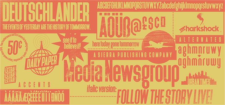 Deutschlander font by sharkshock