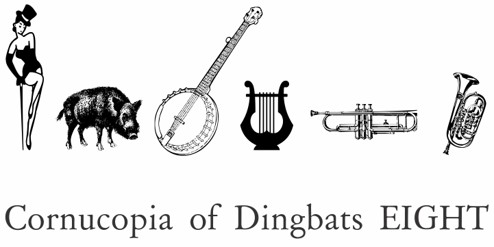 Cornucopia of Dingbats Eight font by Intellecta Design