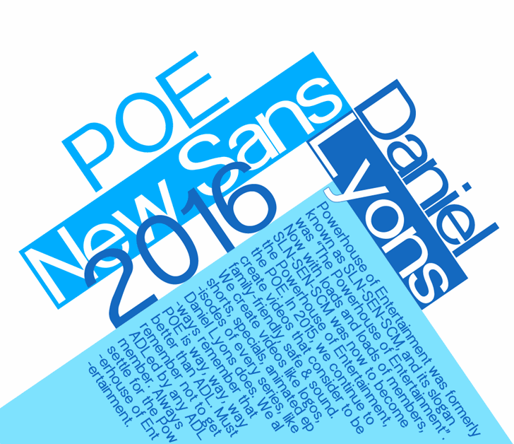 POE Sans New font by 538Fonts