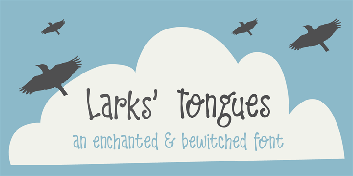 DK Larks Tongues font by David Kerkhoff