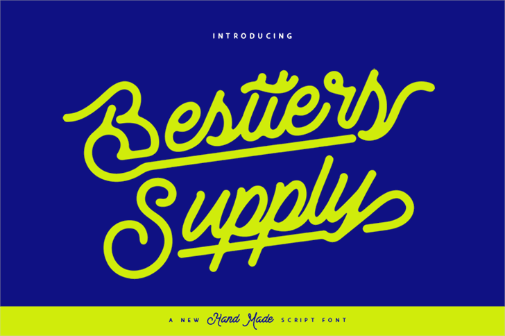 Bestters Supply Demo font by burntilldead