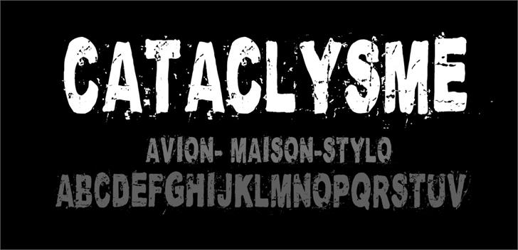 Cataclysme Regular font by CloutierFontes