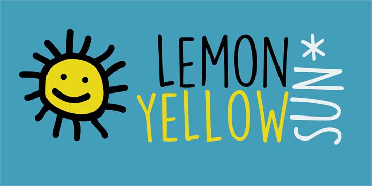 DK Lemon Yellow Sun font by David Kerkhoff