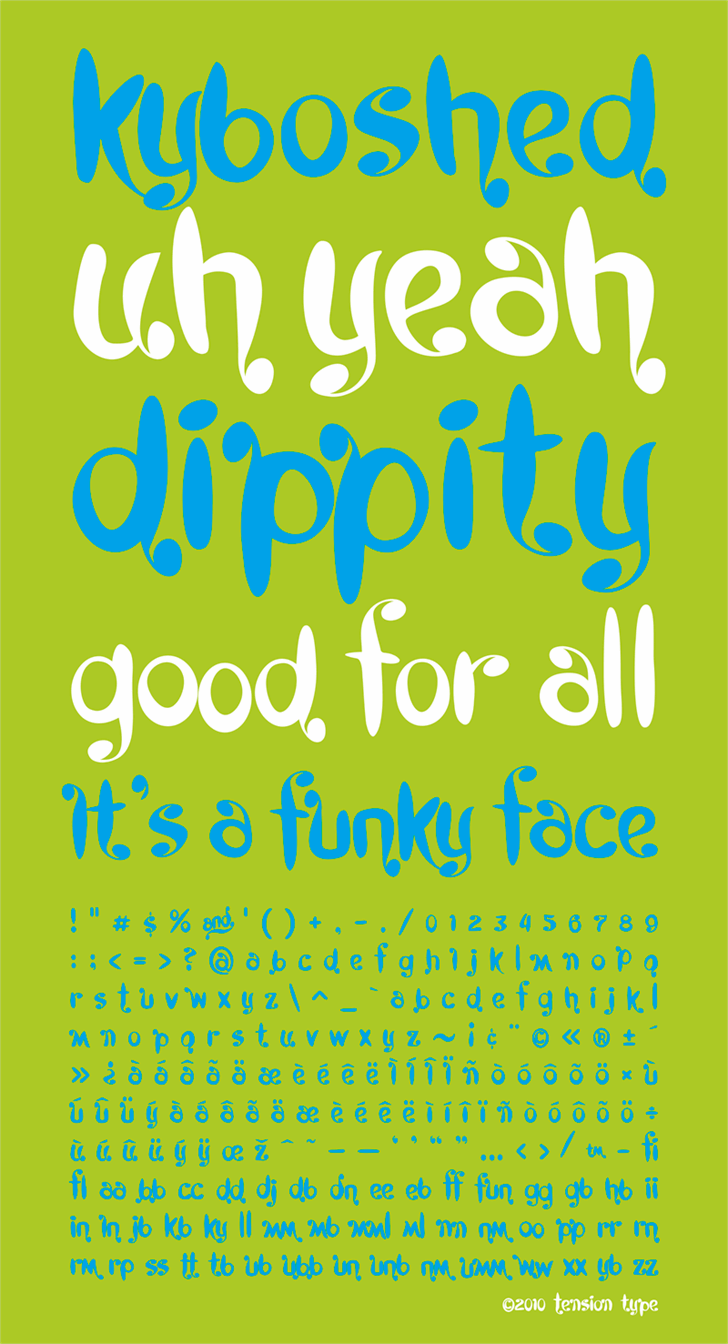 Kyboshed font by Tension Type