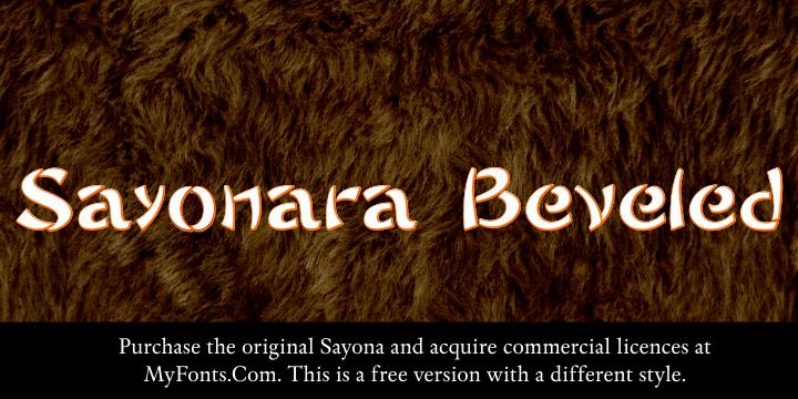 Sayonara Beveled font by Intellecta Design