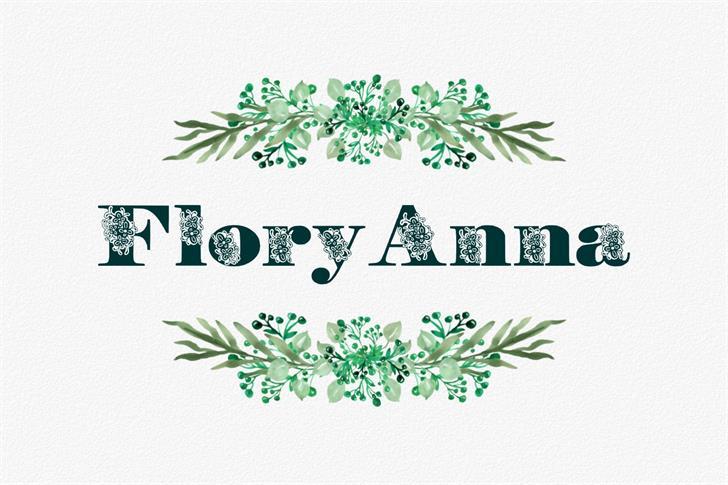 FloryAnna font by Eva Barabasne Olasz
