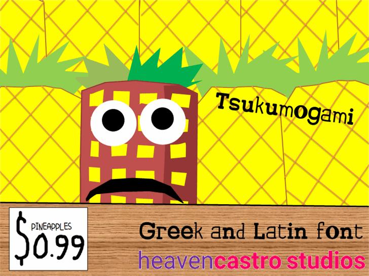 Tsukumogami font by heaven castro