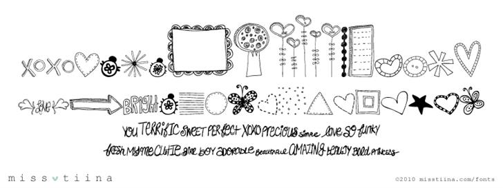 MTF Doodlewhats font by Miss Tiina