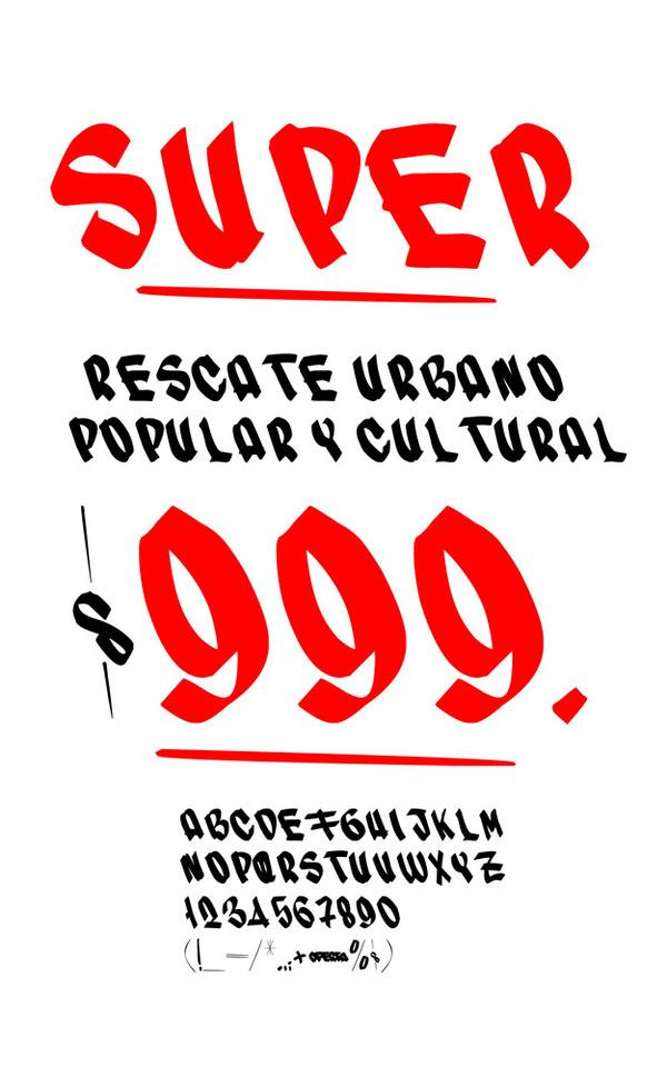 SUPER font by RASDESIGN