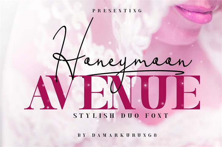 Honeymoon Avenue Serif font by Damarkurung8